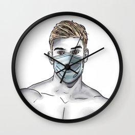 Wear A Mask Wall Clock