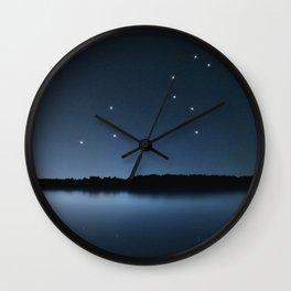Leo star constellation, Night sky, Cluster of stars, Deep space,Lion constellation Wall Clock