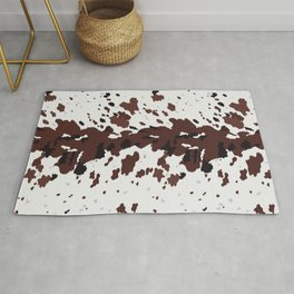 Texas Longhorn Cow Hide Print Rug