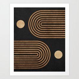 Arches - Minimal Geometric Abstract 2 Art Print