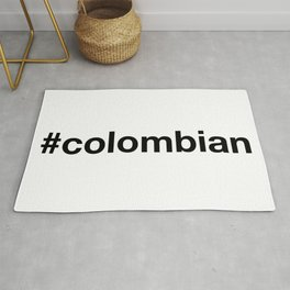 COLOMBIAN Hashtag Rug