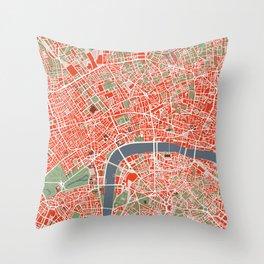 London city map classic Throw Pillow
