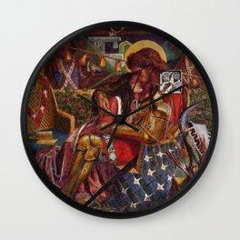 "Dante Gabriel Rossetti ""The Wedding of St. George and Princess Sabra"" Wall Clock"