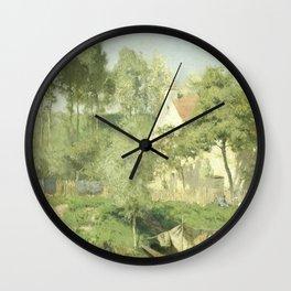 Aan de Oise, Coen Metzelaar, 1877 Wall Clock