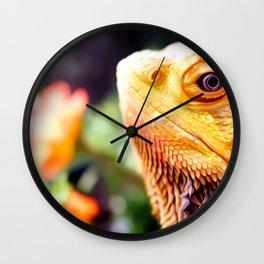 Bearded Dragon Art For Animal Lover Wall Clock