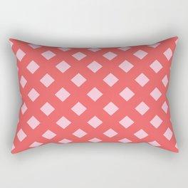 Dark and Light Pink Diamond Abstract Print Rectangular Pillow