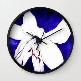 A Sketch Of A Lily Wall Clock