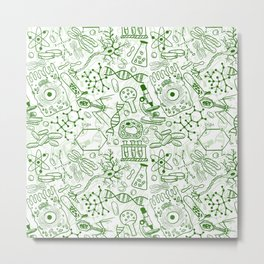 School Chemical pattern #1 Metal Print