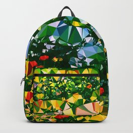 Abstract Garden Low Poly Geometric Triangles Backpack