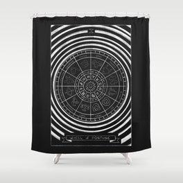 Wheel of Fortune Tarot Card Shower Curtain