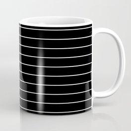 Thin lines white background black Coffee Mug