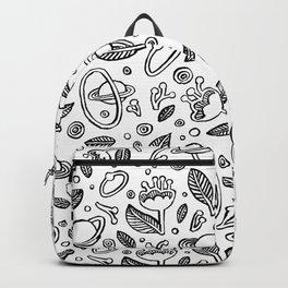 Spaceflowers white Backpack