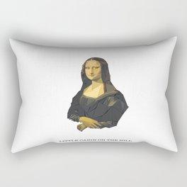 Triangled Mona Lisa Rectangular Pillow