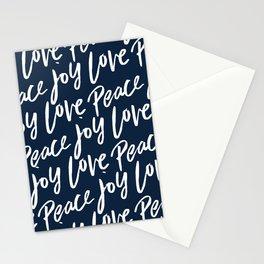 Peace Love Joy Christmas Pattern Stationery Cards