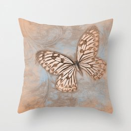 Pastel Butterfly Throw Pillow