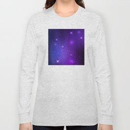 The Heavens Weep Purple Stars Long Sleeve T-shirt