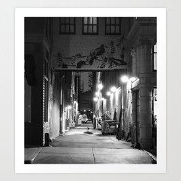 Lights, Alley, Art Art Print