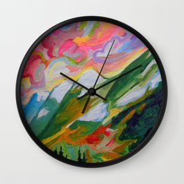 Coquihalla Sunrise Wall Clock