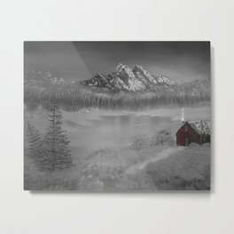The red cabin Metal Print