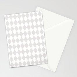 Rhombus (Platinum/White) Stationery Cards