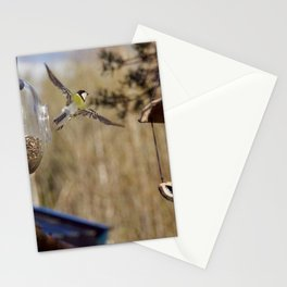 blue tit flying Stationery Cards