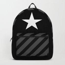 White star on black background Backpack