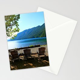 Adirondack Chairs at Lake Cresent Stationery Cards