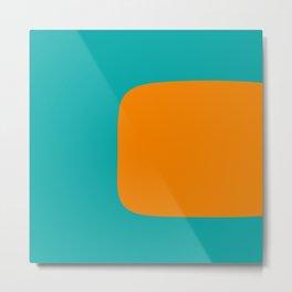 Clarity - Orange and Turquoise Minimalist Metal Print