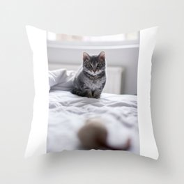 Before the pounce Throw Pillow