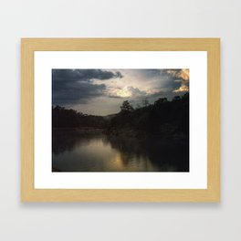 Sunset at C&O Canal Framed Art Print