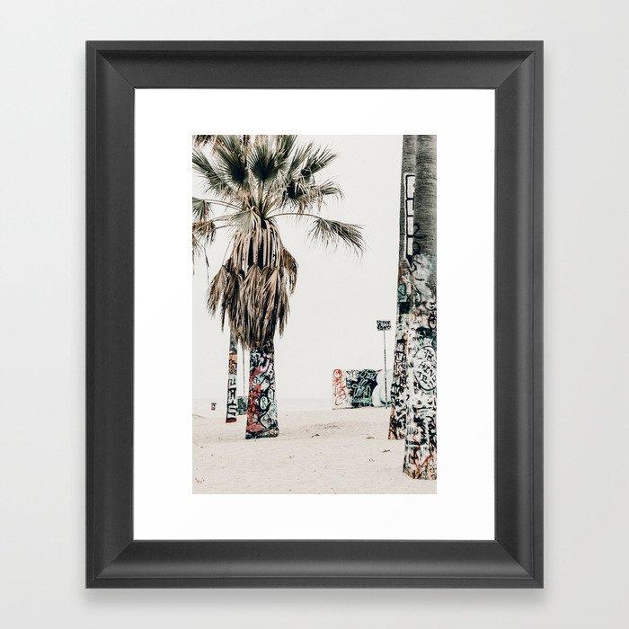 graffiti palms Gerahmter Kunstdruck