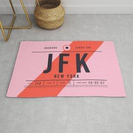 Baggage Tag E - JFK New York John F. Kennedy USA Rug