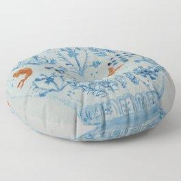 Goldfish Ginger Jar  Floor Pillow