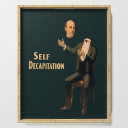 Self Decapitation - Vintage Collage Serving Tray