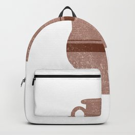 Minimal Abstract Greek Vase 16 - Pelike - Terracotta Series - Modern, Contemporary Print - Tan Backpack