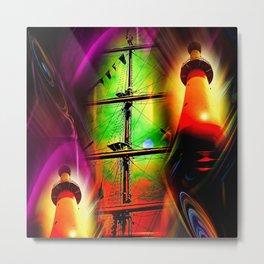 Lighthouse romance 2 Metal Print