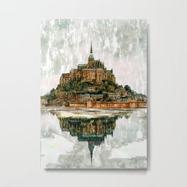 Reflected Castle Abstract.  For Vintage Castle Lovers. Metal Print