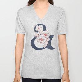 Hibiscus Ampersand Unisex V-Neck