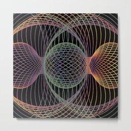 Elliptic Rotations, Day-glow Pop Poster Art Metal Print