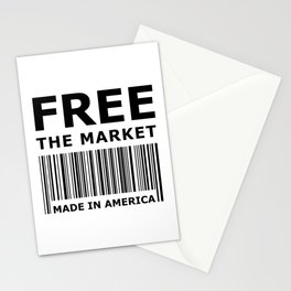 Free The Market Stationery Cards