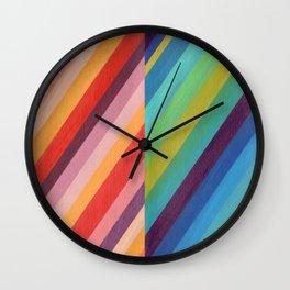 Stripey Hues Wall Clock
