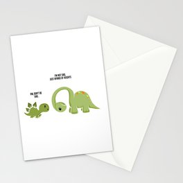 Scared Of Heights Funny Dinosaur Fan Gift Stationery Cards