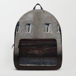 Hammered Serial Number In Metal Plate Backpack