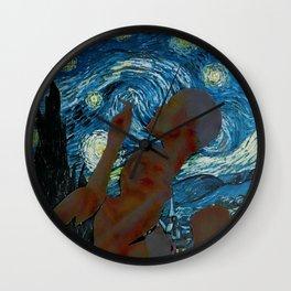Starry Night Lover Wall Clock
