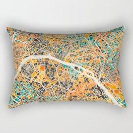Paris mosaic map #2 Rectangular Pillow