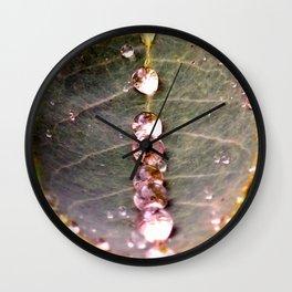Water Drops Leaf Wall Clock