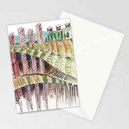 Meandering Landscapes: Balancing the Square Stationery Cards