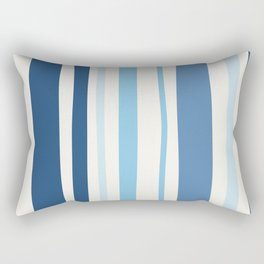 Abstract Striped Blue Art Print Rectangular Pillow