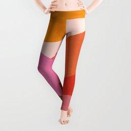 Abstraction_Mountains_SUNSET_Minimalism_008 Leggings