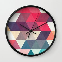 Composition with triangles Wall Clock